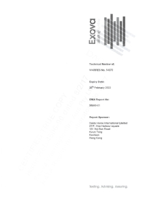 2017 Warrington Fire Resistance Technical Review Report 26990-01 (75mm block wall)